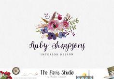 Floral Watercolor Logo Design – The Paris Studio – Creative Logo Design Branding NYC – Paris