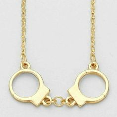 Handcuffs Necklace Handcuffs Necklace Jewelry Necklaces