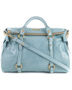 Miu Miu Vitello Lux Large Top Handle Satchel