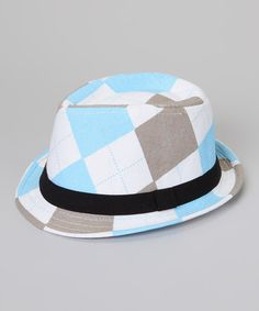 Take a look at this Blue Argyle Fedora by Secretly Spoiled on #zulily today!
