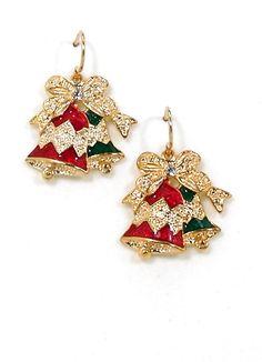 Red & Green Bell Earrings