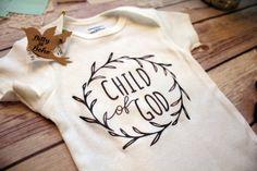 Child of God Baby Onesie® Religious Baby Gift by BittyandBoho