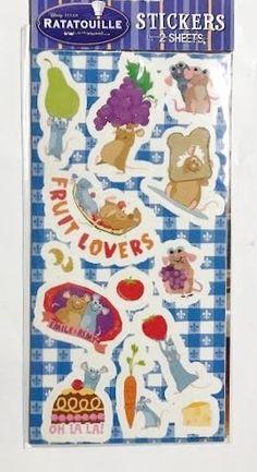 Disney & PIXAR Ratatouille Stickers (26 TOTAL Stickers)