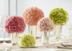 Pink Carnation centerpieces