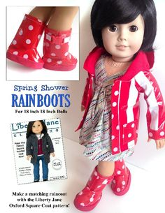 Oxford Square Coat 18 inch Doll Clothes Pattern PDF Download | Pixie Faire