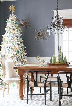 these for the walls? Holiday Home Tour | inspiredbycharm.com #IBCholiday possible color