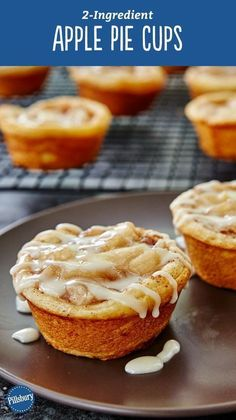 Yes, you can make tasty apple pie cups with just two ingredients that make enough servings to feed a crowd! All you need is a can of Pillsbury™ refrigerated cinnamon rolls and some apple pie filling. and a large scoop of ice cream to serve them with! Expert tip: Use a nonstick muffin pan for easiest removal.