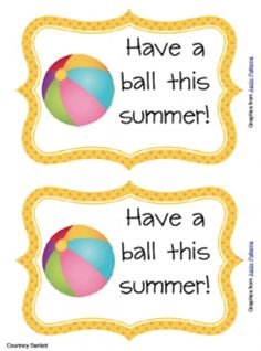 Teach Junkie: 17 Simple End of the school Year Student Gifts and Writing Activities - Have a ball tag - add to a dollar store beach ball