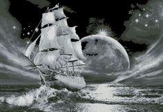 Лунный путь - Морская тема - Схемы вышивки - Иголка