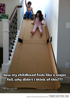 If we had stairs I would totally do this