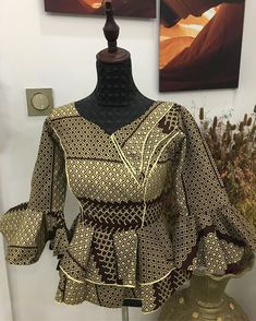 Latest African Fashion Dresses, African Print Dresses, African Dress, Ankara Peplum Tops, Ankara Skirt And Blouse, African Attire, African Wear, Ankara Short Gown Styles, African Blouses