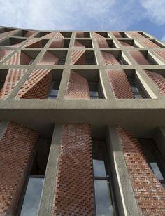 Kahrizak Residential Project CAAT Studio, Tehran, Iran, 2015 red bricks facade