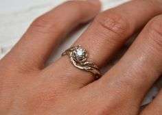 14kt Gold Naples Wedding Ring  14kt Gold by OliviaEwing on Etsy, $198.00