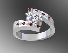 Lightning ring set with rubies and white round brilliant cut diamonds.  Available in yellow- and white gold, platinum and palladium.  Contact Christel Jewellery for a quote: www.christeljewellery.co.za/082 539 8299