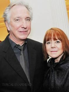 This is a picture of Alan and Rima. I am posting it to announce they are married. Alan announced it while in Berlin to promote A little Chaos. They got married in New York in 2012 Alan Rickman Young, Alan Rickman Movies, Snape Harry, Alan Rickman Severus Snape, Marianne Faithfull, A Little Chaos, Severus Rogue, Royal Shakespeare Company, Harry Potter