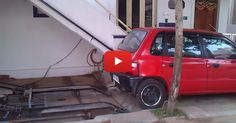 He Didn't Have A Driveway, So He Came Up With This AMAZING Parking Solution Instead