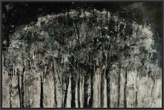 CARBON FOREST 22L X 28H Floater Framed Art Giclee Wrapped Canvas
