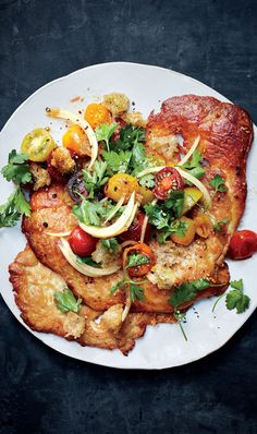 Leaving the skin on gives these cutlets a satisfying layer of fatty crunch when cooked.