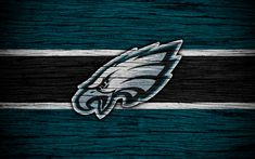 Download wallpapers Philadelphia Eagles, 4k, wooden texture, NFL, american football, NFC, USA, art, logo, East Division
