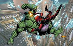 Hulk vs Deadpool by spidey0318 on @DeviantArt