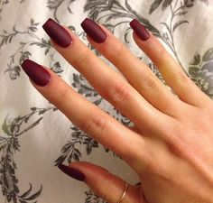Burgandy nails