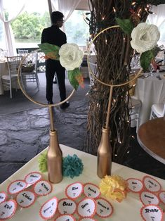 Harry Potter Baby Shower Quidditch Centerpiece with HP flowers