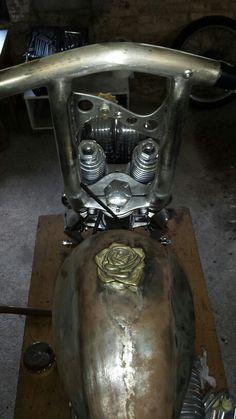 Harley Rose Brass gas cap