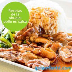 El pollo en salsa es una de las recetas más tradicionales, típica de todas las casas y épocas, ¿te animas a cocinarlo? http://www.guiainfantil.com/recetas/carnes/pollo-y-gallina/pollo-en-salsa-de-cebolla-y-pimenton/