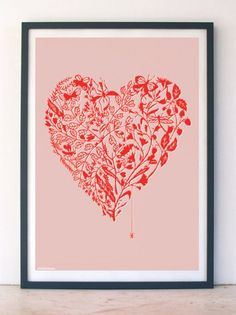 Love bug paper cut print