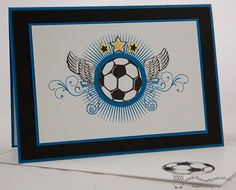 Great Sport - Football masculine birthday card Joanne James, Independent Stampin' Up! Demonstrator  www.blog.thecraftyowl.co.uk