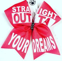 Bows by April - Straight Outta Your Dreams Valentines Day Sublimated Cheer Bow, $15.00 (http://www.bowsbyapril.com/straight-outta-your-dreams-valentines-day-sublimated-cheer-bow/)