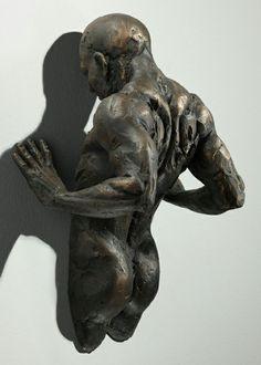 realistische Wand Skulpturen verstecken körper