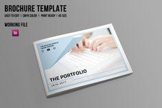 InDesign Portfolio Brochure-V506 by Template Shop on @creativemarket