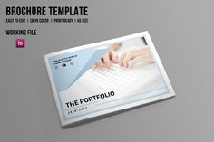 InDesign Portfolio Brochure-V506 by Template Shop on @creativemarket