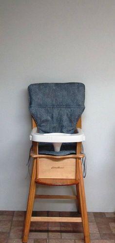 eddie bauer wooden high chair pad cotton replacement chair cushion