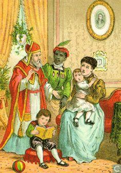 Illustratie uit het boek: St. Nicolaas in 't land, ca. 1880