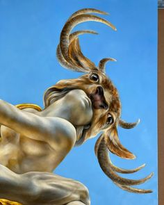"""Embrace"" Art by Dina Perejogina fragment of a oil painting. @dinaperejogina #oilpainting #oil #oiloncanvas #oilpainter #surrealismart… Oil Painters, Classical Art, Surreal Art, Oil On Canvas, Giraffe, Fine Art, Animals, Painting, Surreal Artwork"