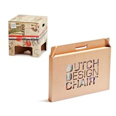 Dutch Design Chair Sustainable Packaging Design in Packaging Wood Packaging, Shirt Packaging, Clothing Packaging, Fashion Packaging, Cardboard Packaging, Brand Packaging, Design Packaging, Packaging Ideas, Corporate Design