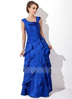 Mother of the Bride Dresses - $154.99 - A-Line/Princess V-neck Floor-Length Charmeuse Mother of the Bride Dress With Ruffle (008006288) http://jjshouse.com/A-Line-Princess-V-Neck-Floor-Length-Charmeuse-Mother-Of-The-Bride-Dress-With-Ruffle-008006288-g6288