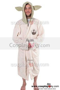 #cosplay #cosplaysky #starwars #disfraz Star Wars Yoda Jedi Ears Bata de baño de lana Disfraz Tamaño de Adulto