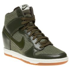 Nike Dunk Sky Hi Trainers in khaki green...
