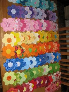 Hi everyone,thought I would update.I now have a good stack of hexis for my daughters quilt. There are lots of lovely colours. I now have...