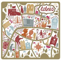 Lauren Radley - Map of Totnes, Devon