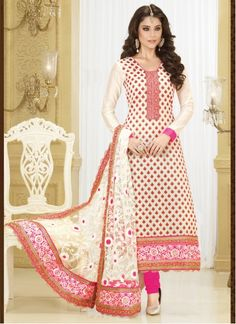 http://www.maplefashions.com/salwar-kameez/integral-jacquard-patch-border-work-churidar-designer-suit-24899  Integral Jacquard Patch Border Work Churidar Designer Suit  Style	:	Churidar Suit Fabric	:	Banarasi, Jacquard Work	:	Embroidered, Patch Border Work Color	:	Pink, Cream Occasion	:	Party, Casual