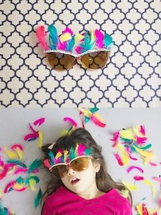 Embellished glasses for New Year's Eve found at Ruffles And Stuff