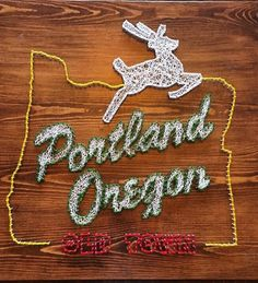 Portland, Oregon string art