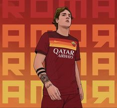 Football Player Drawing, As Roma, Europa League, Football Players, Caricature, Cartoon, Shit Happens, Sports, Legends