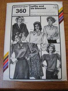 Stretch & Sew Pattern 360 ~ Ruffle &Tie Blouse ~ Bust 30 - 46
