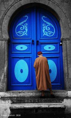 door to the mosque