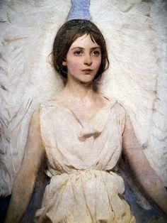 Abbott Handerson Thayer - Angel at Smithsonian American Art Museum Washington DC